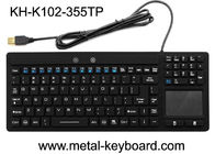 Waterproof USB Interface Industrial PC Keyboard 108 Keys No Noise With Touchpad