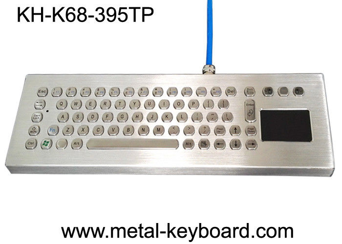 Waterproof Ruggedized Keyboard , Metal Computer Keyboard With Stand Alone Design