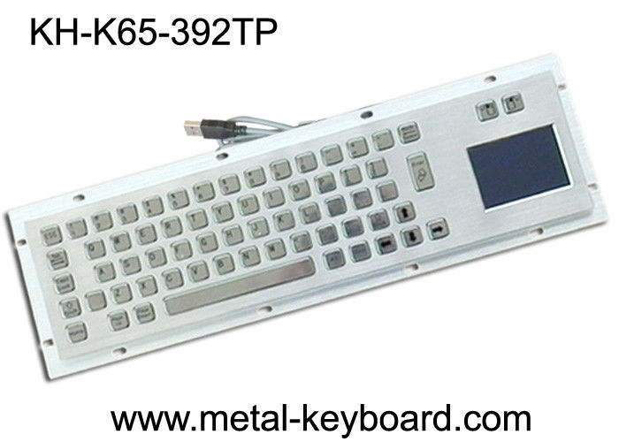 Metal Industrial Keyboard with Touchpad , Vandal - Resistance metallic keyboard