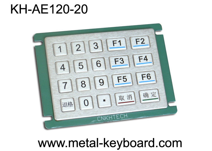 IP65 Rated Water - proof Metal Numeric Digital Keypad in 5x4 Matrix 20 Keys