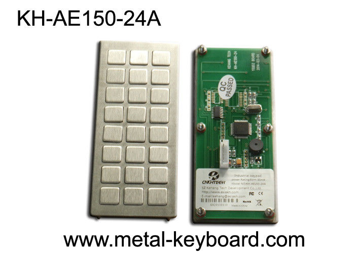 Industrial Metal Kiosk keyboard with 24 keys custom layout design