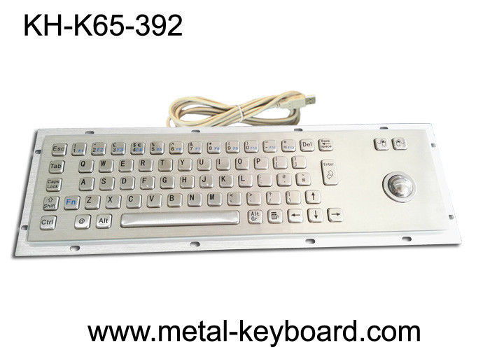 Metal Panel Mount Industrial Computer Keyboard Laser Trackball Mouse Type