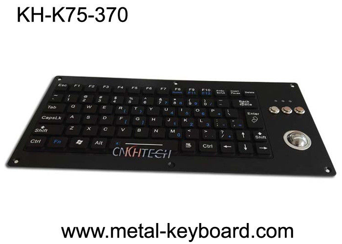 Compact Silicone Backlit Industrial Keyboard With Trackball 75 Keys 5.0V DC