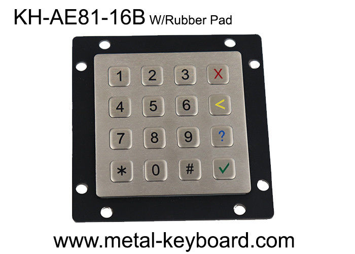 EU Market Custom Design Stainless Steel Industrial Access Entrance Control Keypad 4x4 layout in 16 Keys