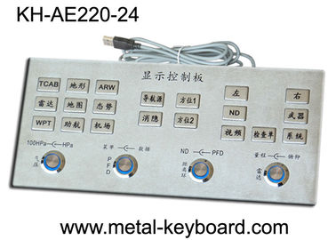 Metal Industrial Control Platform Flat key Keyboard , Metallic Keyboard