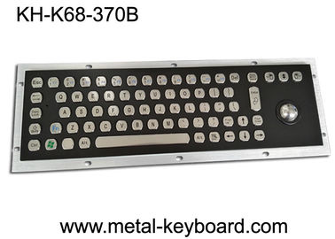 Rugged Stainless Steel Industrial Computer Keyboard with Water proof Trackball