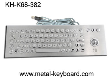 চীন Rugged Vandal resistant metal keyboard with trackball , PS / 2 connector কারখানা