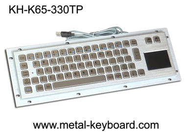চীন Vandal proof industrial Computer Kiosk keyboard with Stainless steel panel mount কারখানা