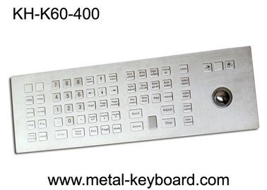 চীন Weather - Proof Industrial Keyboard with Trackball , Kiosk trackball keyboard Metal কারখানা