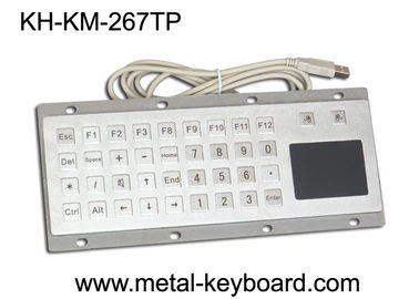 চীন Custom Mine Vandal proof Metal Panel Mount Keyboard with Touchpad Mouse কারখানা