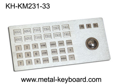 চীন Ruggedized Metal Panel Mount Industrial Keyboard with Trackball কারখানা