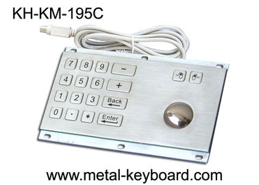 চীন Rugged Stainless Steel Panel Mount Keyboard with Trackball IP65 Rate Dustproof কারখানা