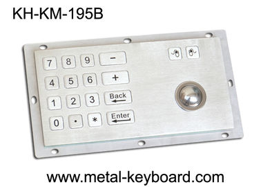 চীন Panel Mount Industrial Industrial Keyboard with Trackball , 16 Keys Digital Keyboard কারখানা